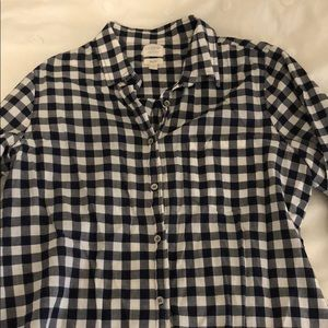 J. Crew navy button down loose-fit